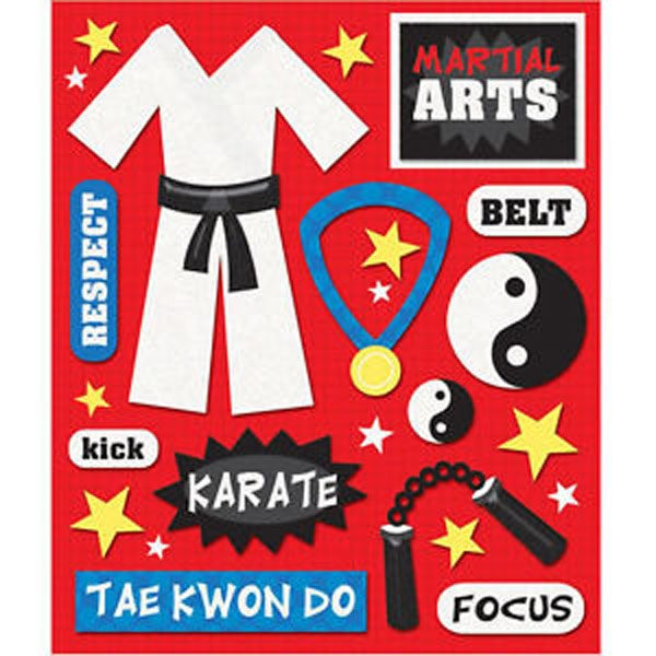 MARTIAL ARTS STICKER MEDLEY