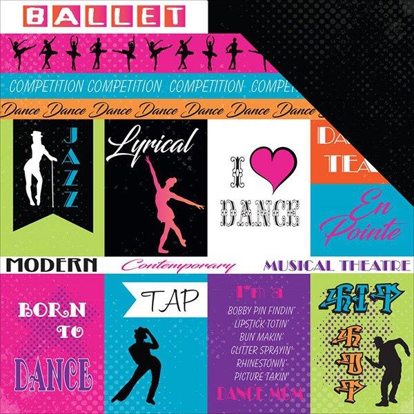 DANCE LIFE CUTOUTS 12X12 PAPER