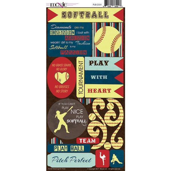 SOFTBALL PLAY BALL STICKERS