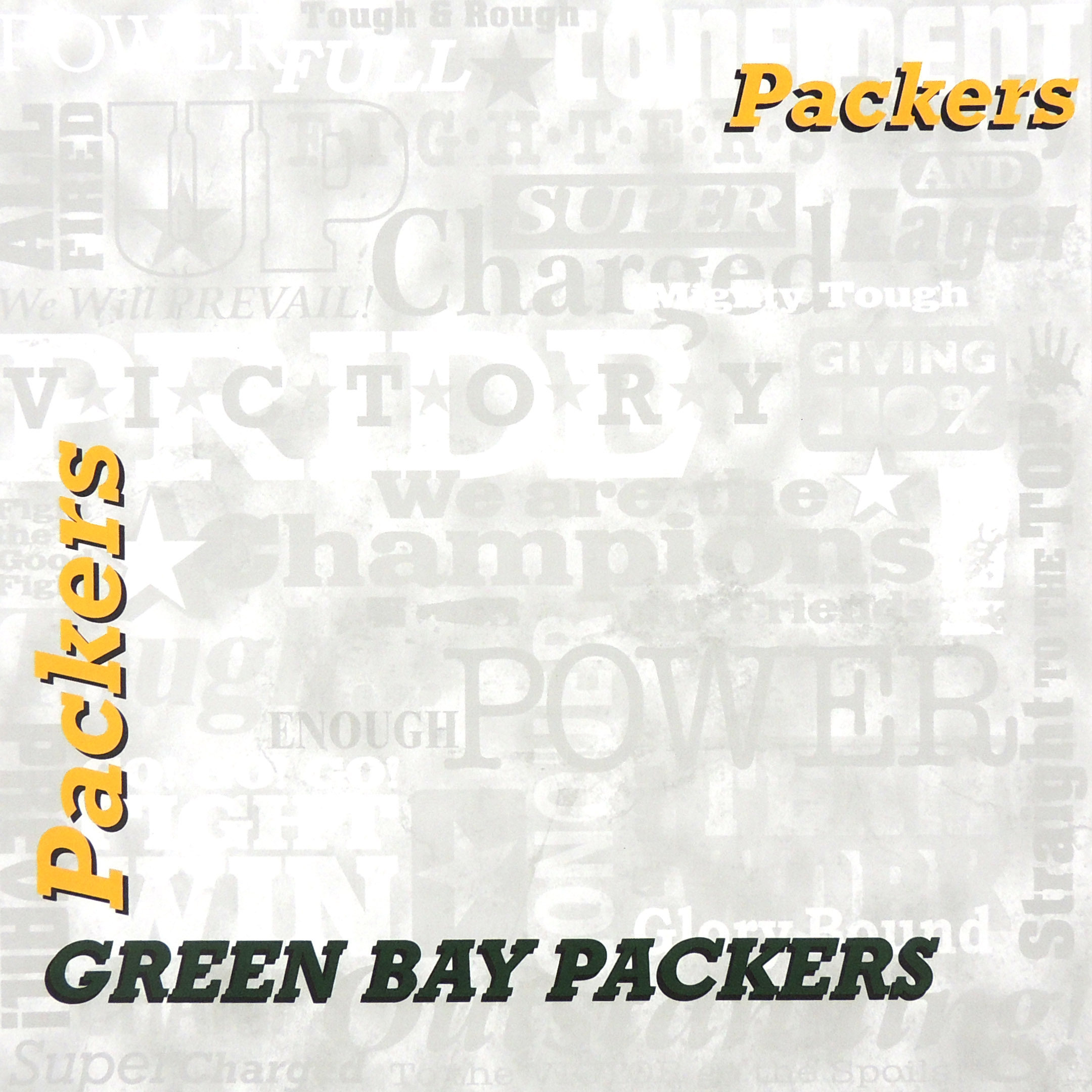 GREEN BAY PACKERS SPIRIT WORDS PAPER