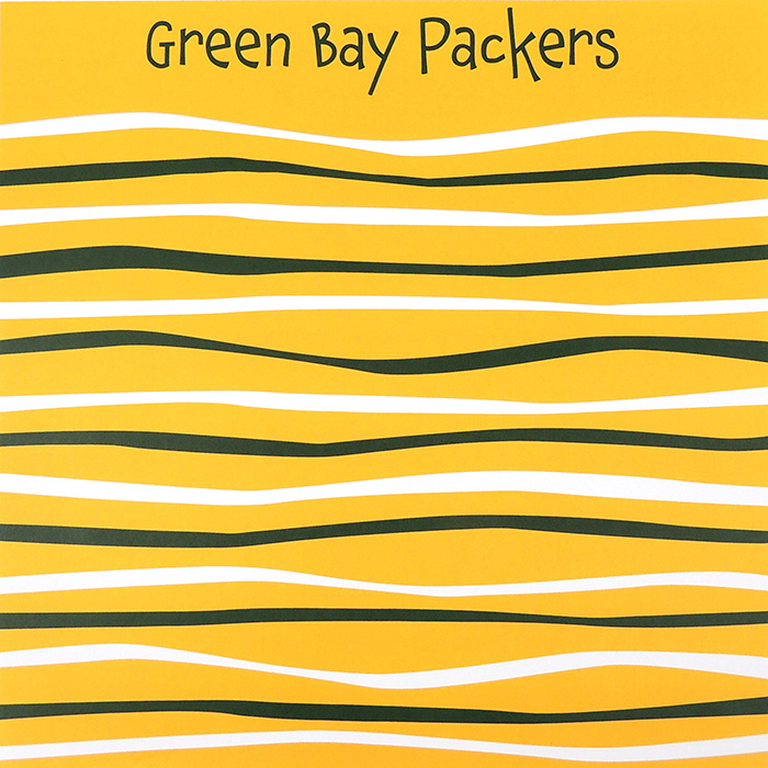 GREEN BAY PACKERS WAVE | YELLOW