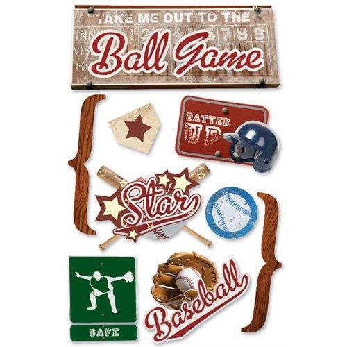 BASEBALL 3D STICKER