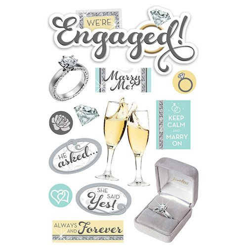 ENGAGED 3D STICKERS