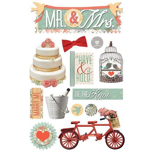 MR & MRS 3D STICKER
