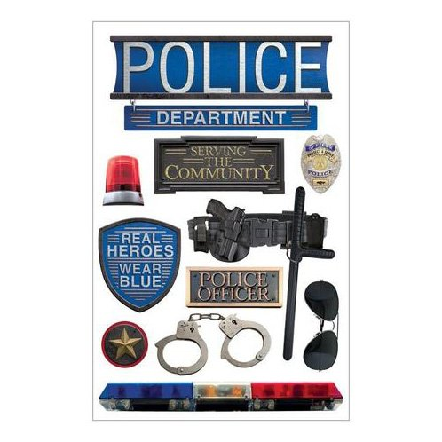 POLICE 3D STICKERS