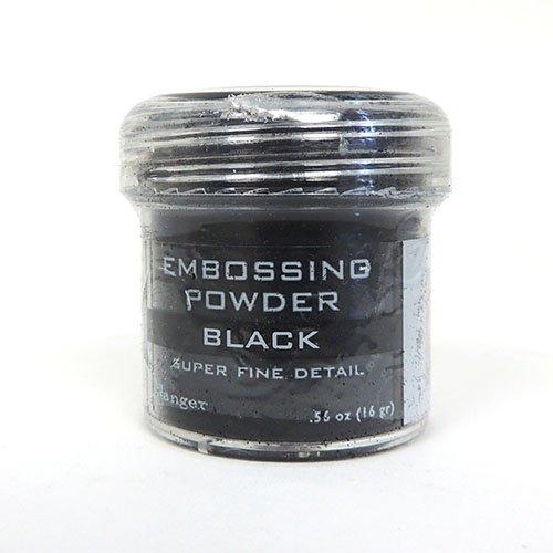 BLACK SUPER FINE EMBOSSING POWDER