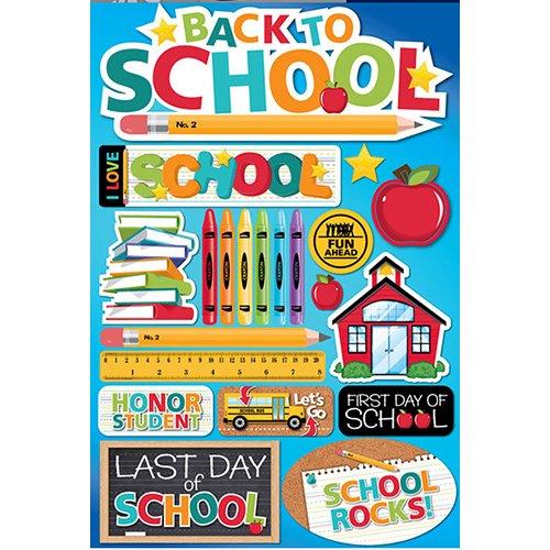 BACK TO SCHOOL 3D STICKER
