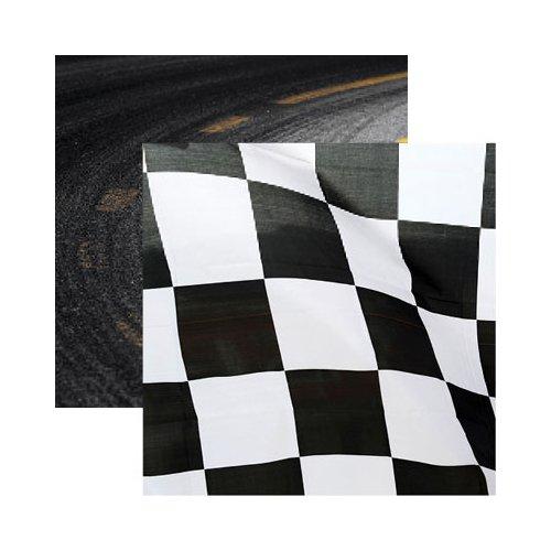 CHECKERED FLAG 12X12 PAPER