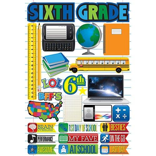 SIXTH GRADE 3D STICKER
