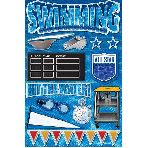 SWIMMING 3D STICKER