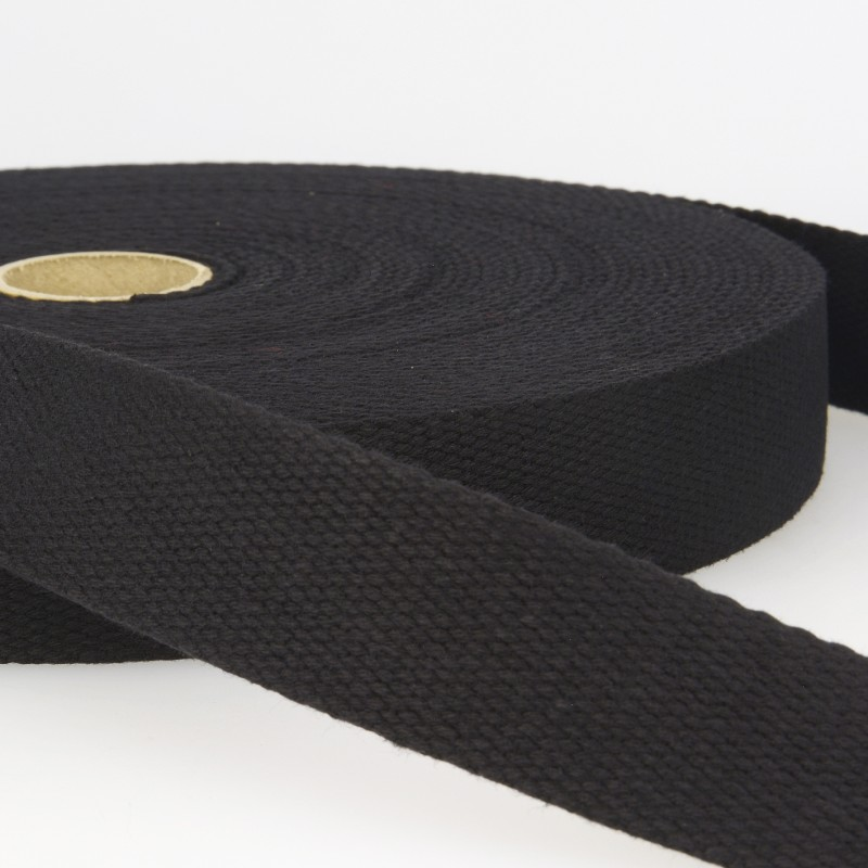 Webbing Cotton/Poly 2 in.- Black by La Stephanoise (France)