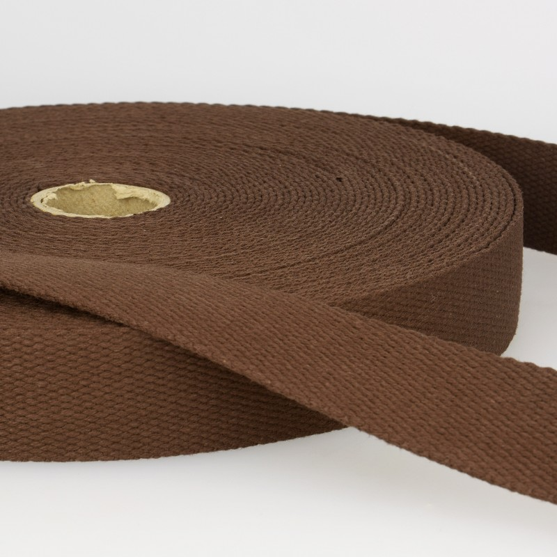 Webbing Cotton/Poly 2 in.- Brown by La Stephanoise (France)