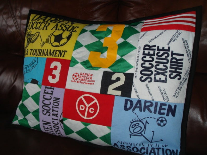 Custom T-Shirt Quilt Pillowcase ~ Twin Bed