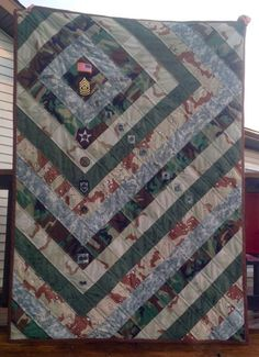 Deploy That Fabric Custom Army Quilt Geometrics