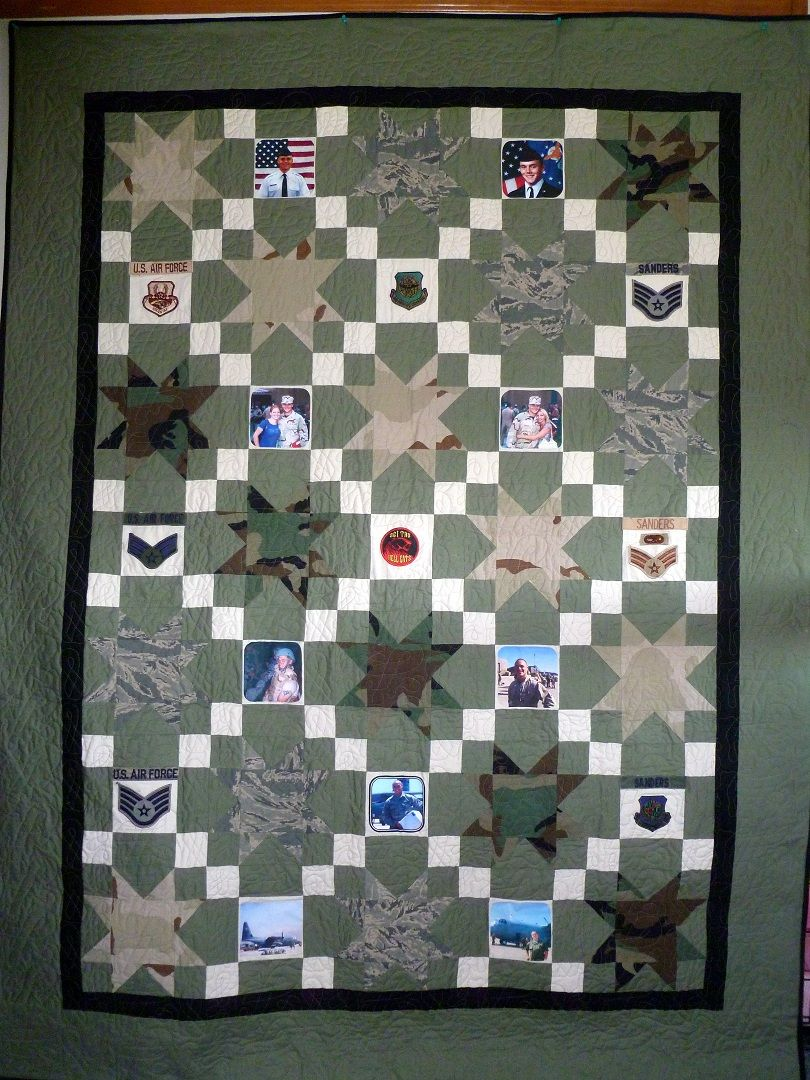 Deploy That Fabric Custom Quilt with Pictures & Honors added