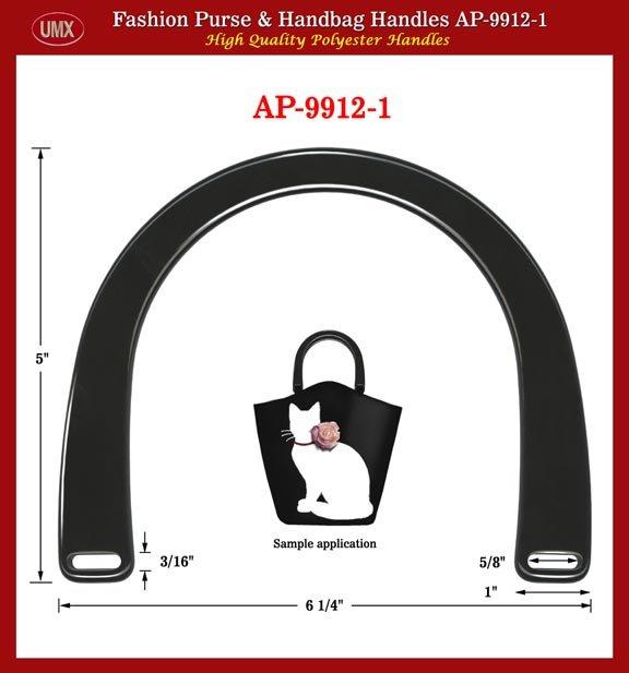 UMX Plastic Handbag: Purse: Black Color Handle for webbing