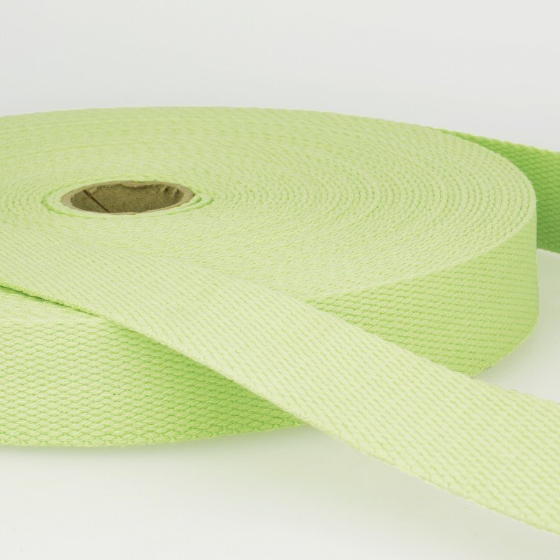Webbing Cotton/Poly 2 in.--Light Green by La Stephanoise (France)