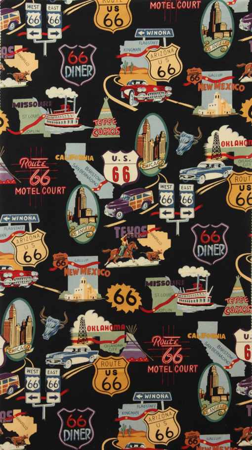 Route 66-Nicole's Prints by Alexander Henry 1585CRR