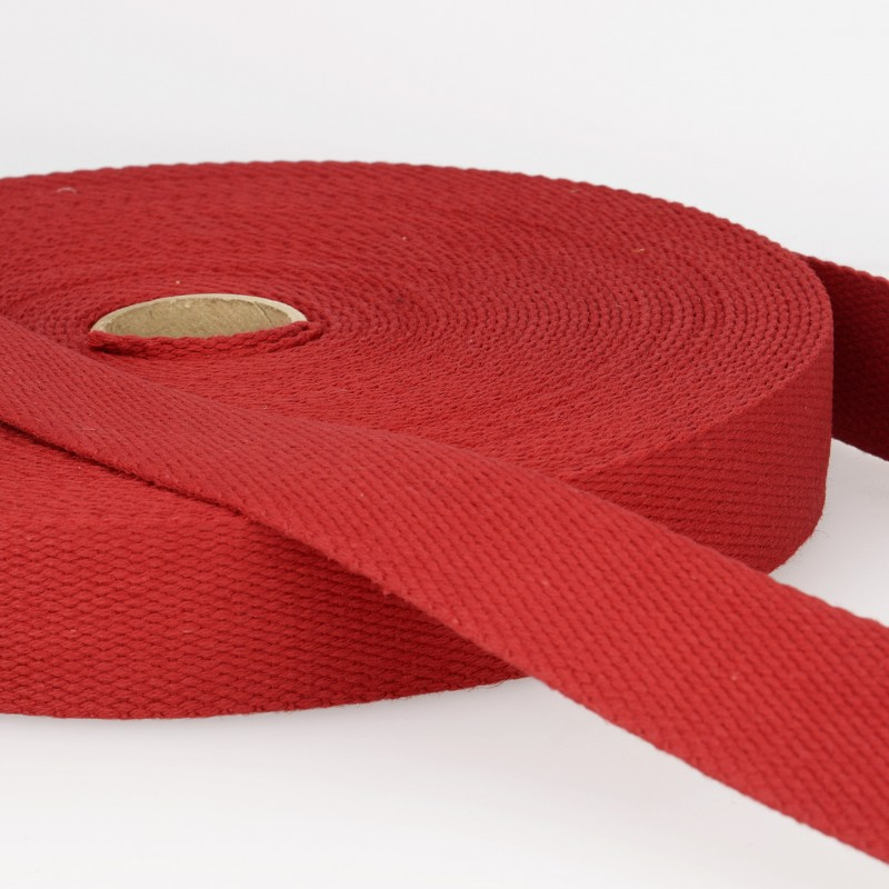 Webbing Cotton/Poly 2 in.- Dark Red by La Stephanoise (France)