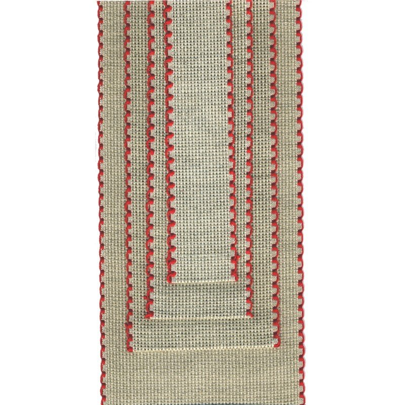 French Embroidery Ribbon for Hand or Machine- Red/3 in. by La Stephanoise (France)