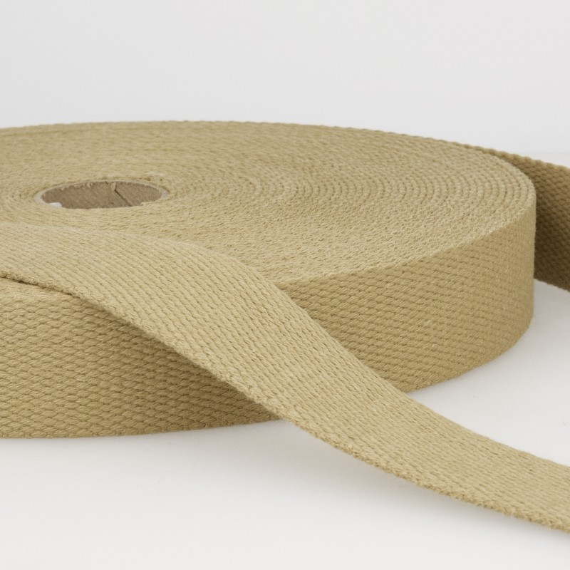 Webbing Cotton/Poly 2 in.- Tan by La Stephanoise (France)