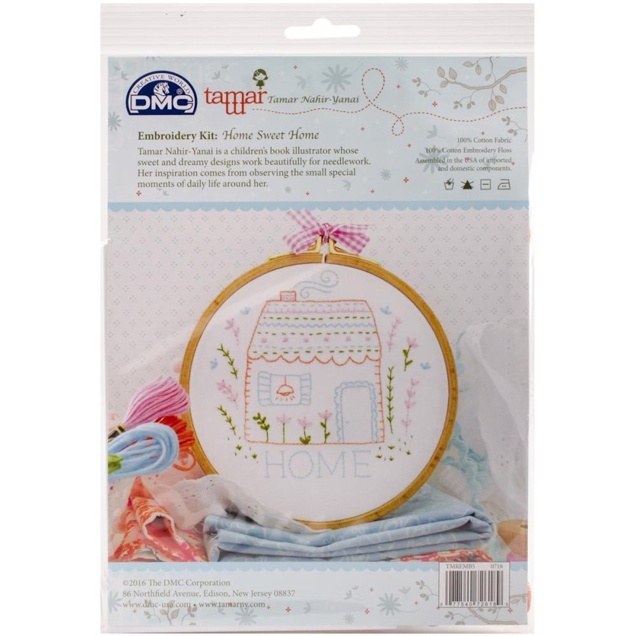 Home Sweet Home (Tamar Collection) Embroidery Kit-8X8 by DMC
