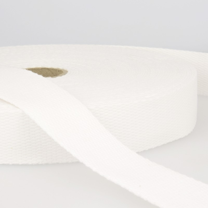 Webbing Cotton/Poly 2 in.- White by La Stephanoise (France)