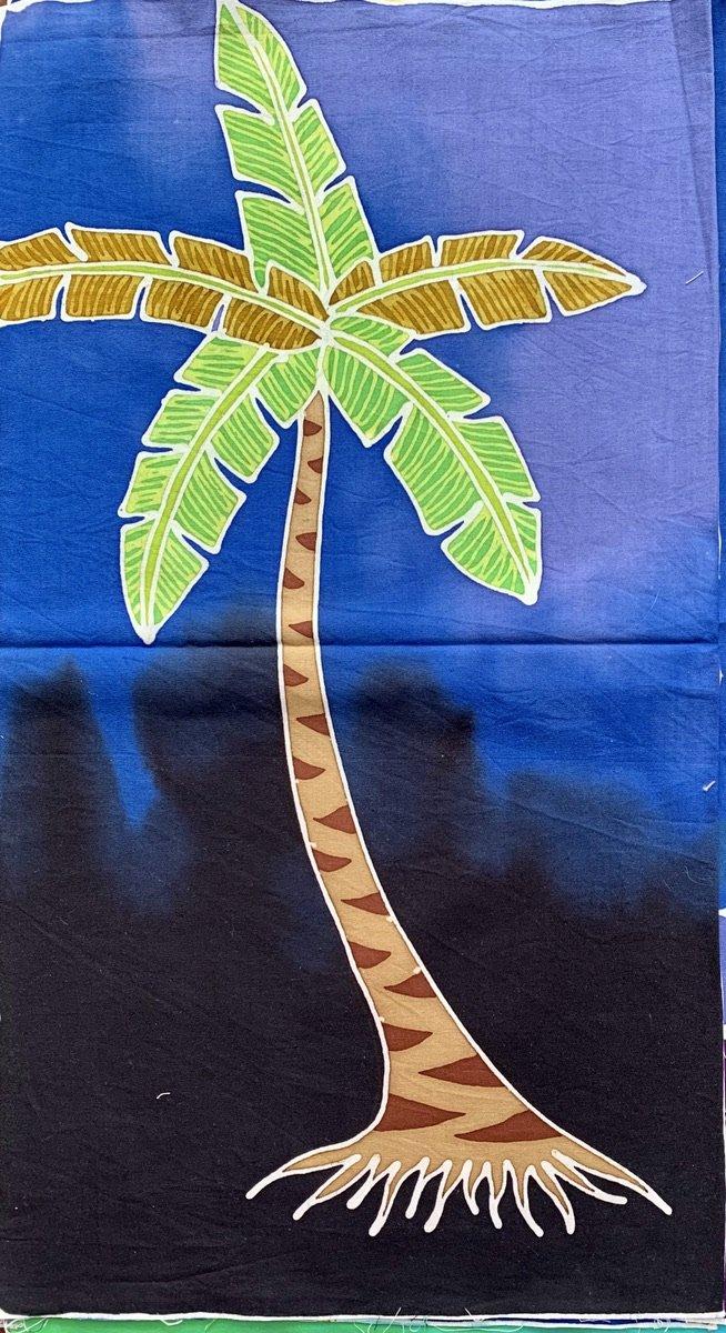 Palm Tree Batik Art Panel P8
