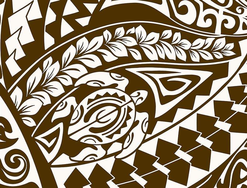 Brown Honu Tribal