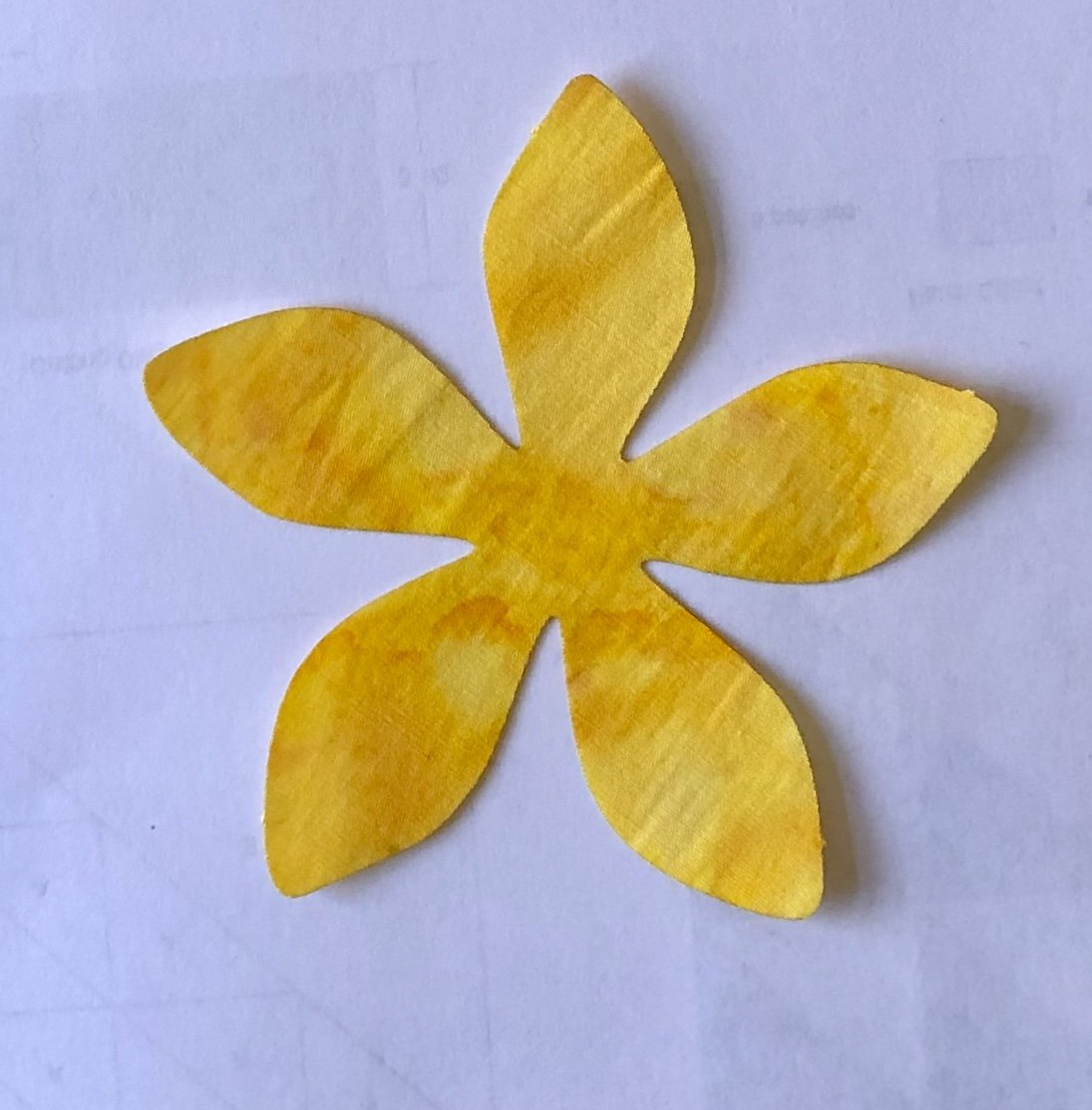 5in. Plumeria Flower Fusible Appliques