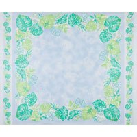 Blue Leaves Double Border Panel