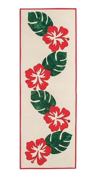 Hibiscus Table Runner Pattern plus Appliques