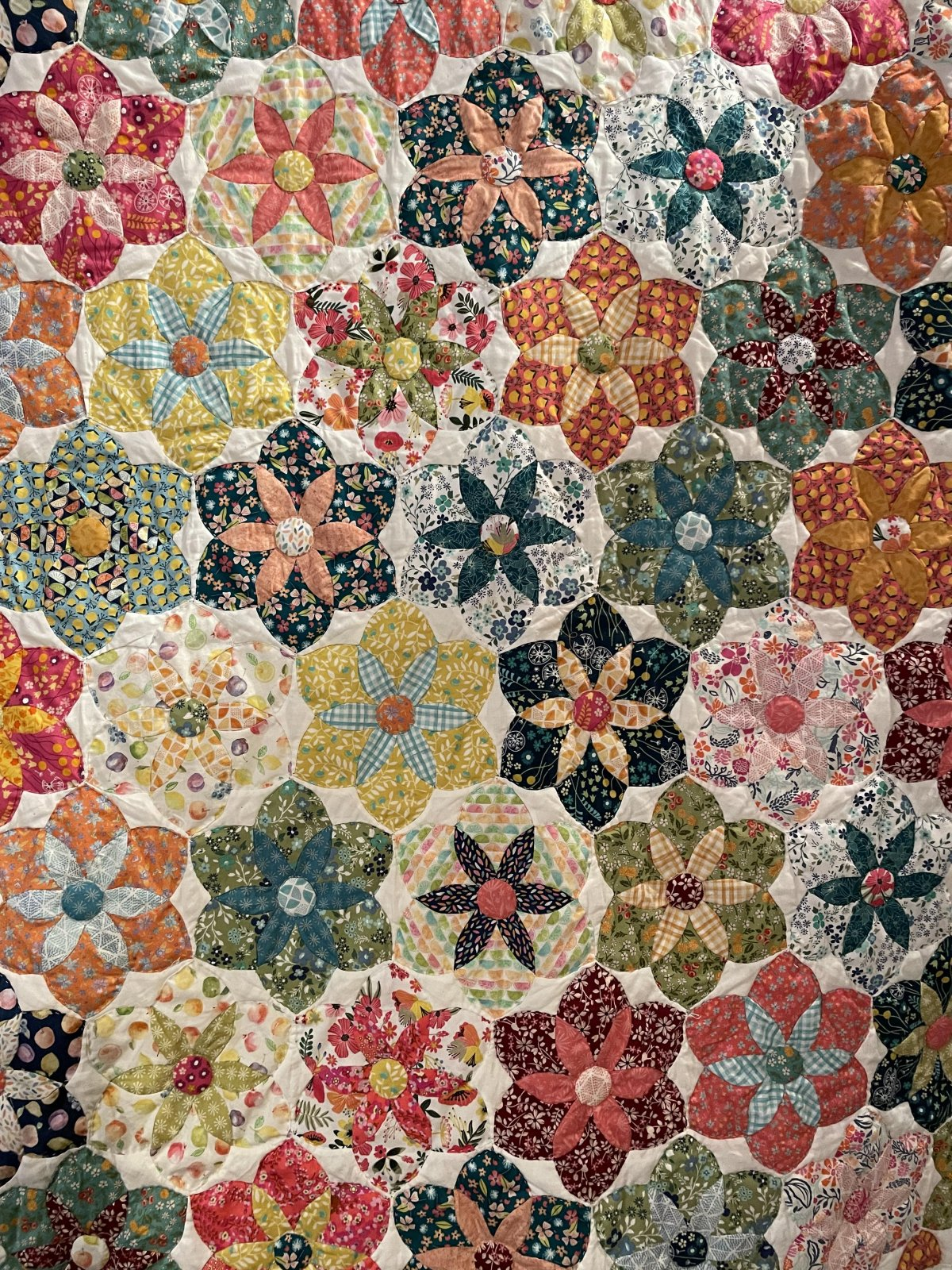 Daisy do quilt pattern and template