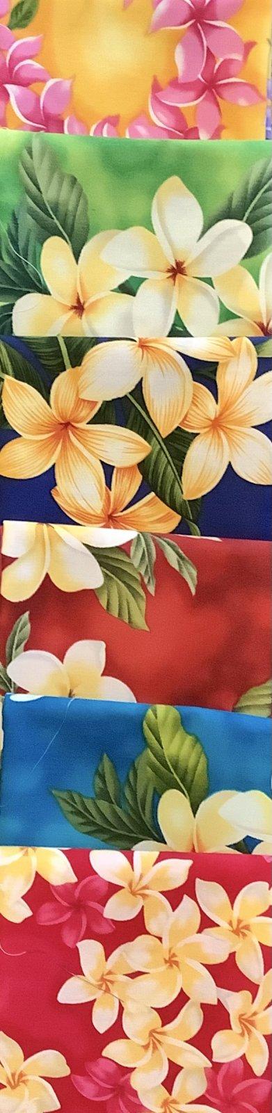 Plumeria Hawaiian Fat Quarter Bundle