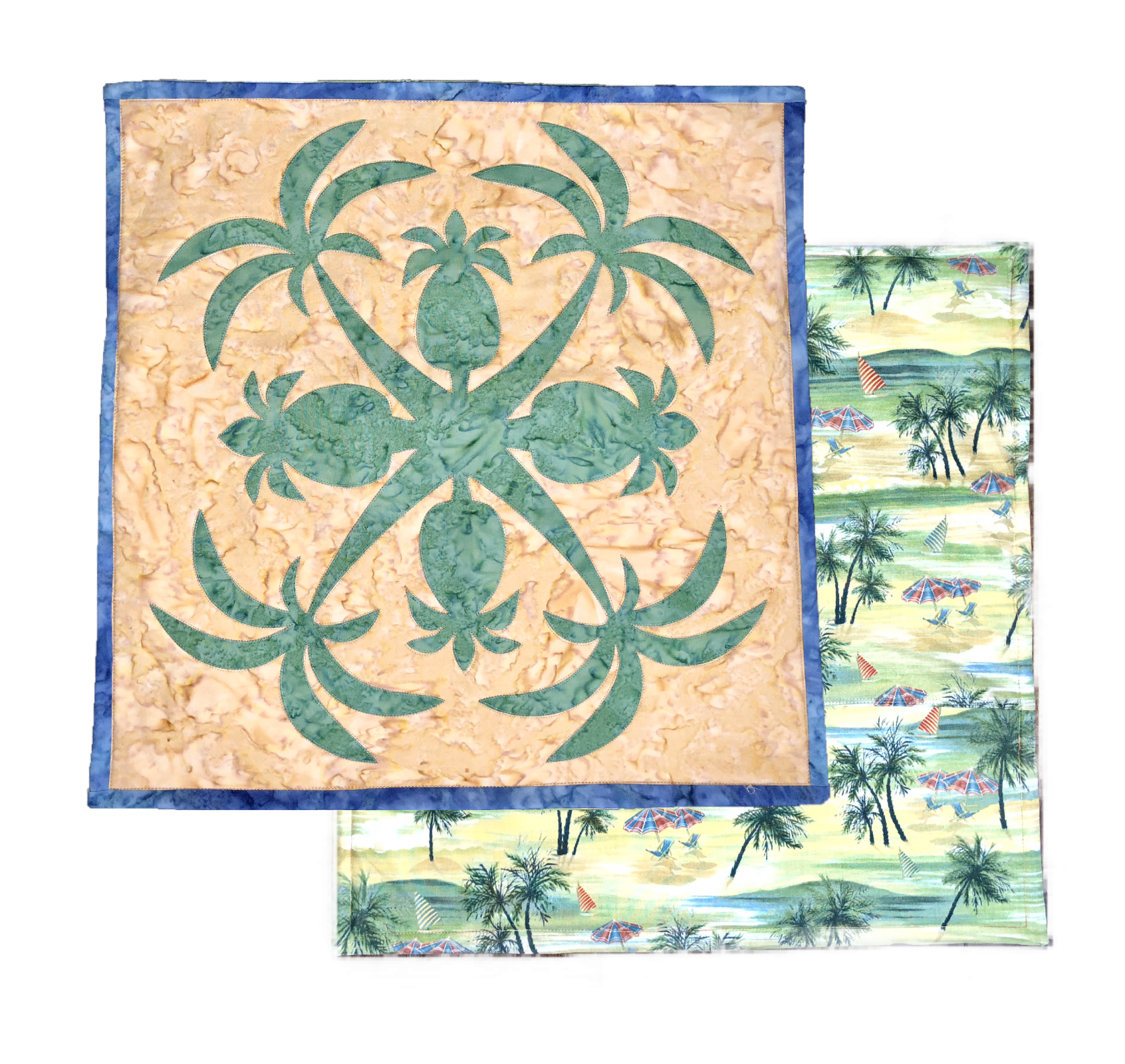 Palm Hawaiian Applique Pillow Kit- Machine