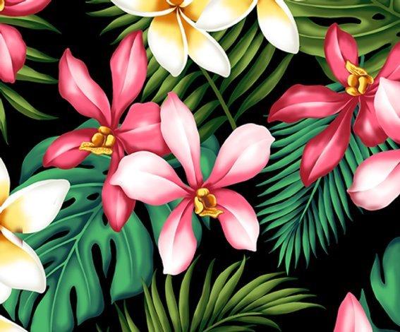 Orchid Hawaiian Print