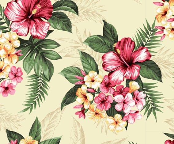 Hawaiian Bouquet on cream