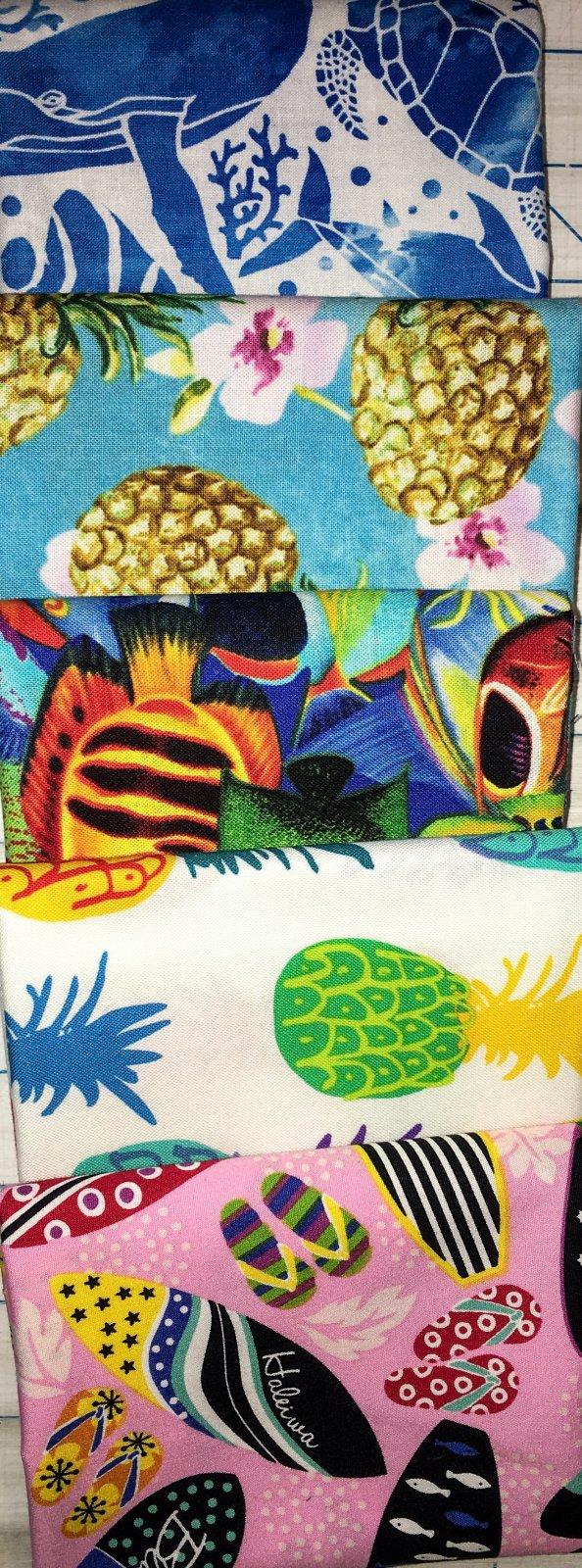 Hawaiian Print Fat Quarter Bundle