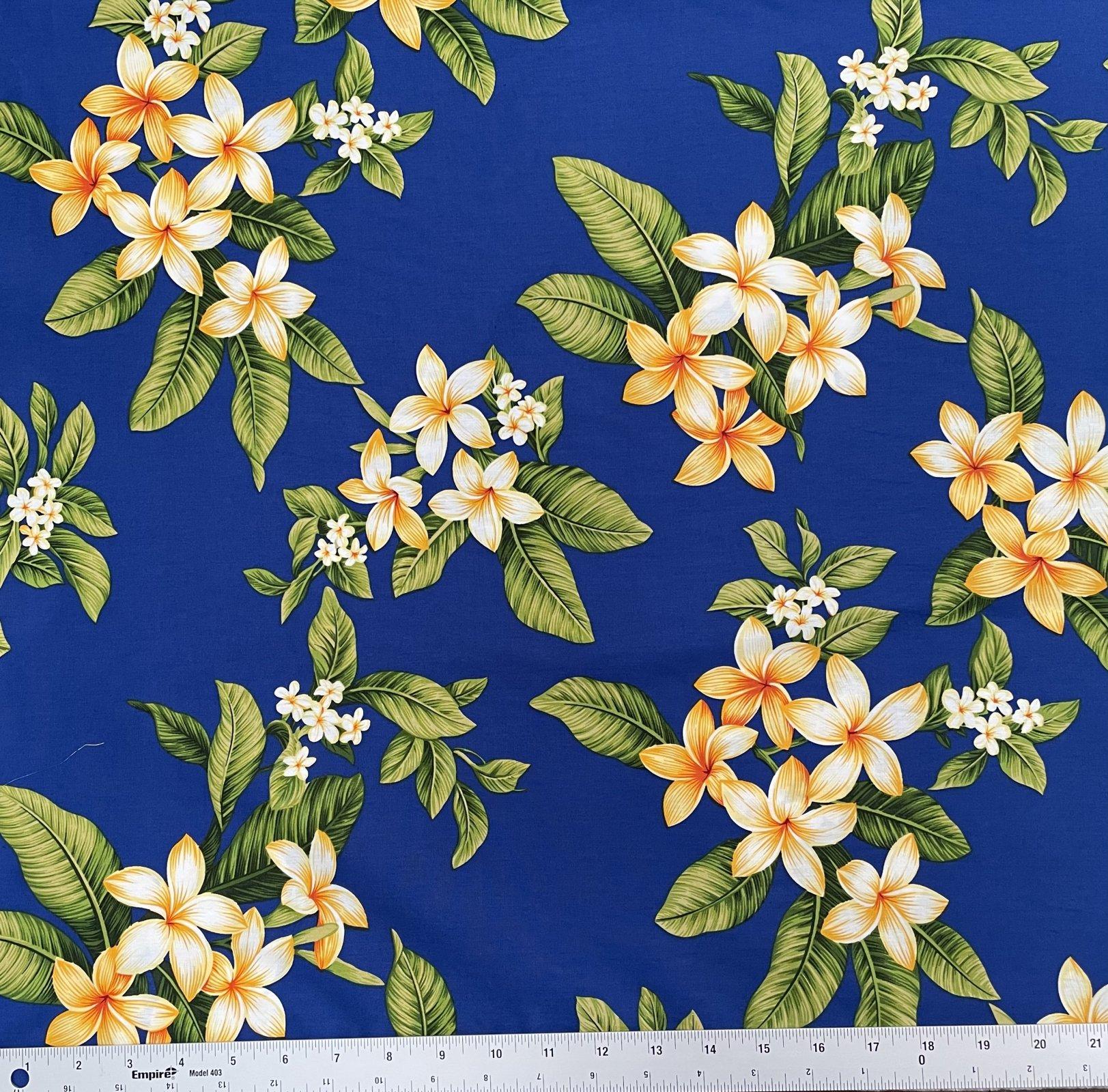Plumerias on Royal Blue