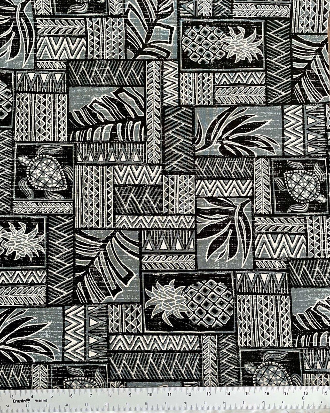 Turtle tribal print on grey