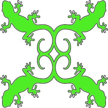 8in. Gecko Hawaiian Applique