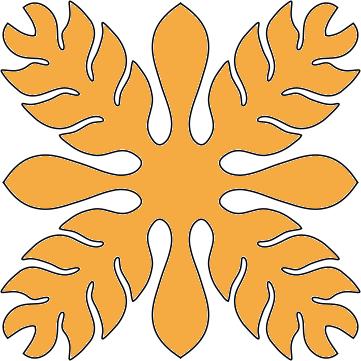 8in. Ginger Hawaiian Applique
