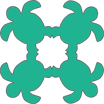 8in. Honu Hawaiian Applique