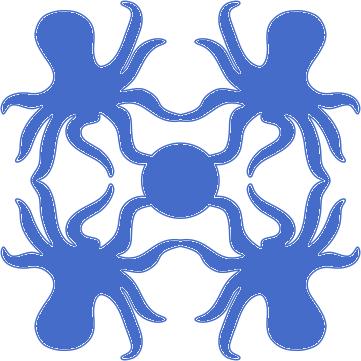 8in. Octopuses Hawaiian Applique