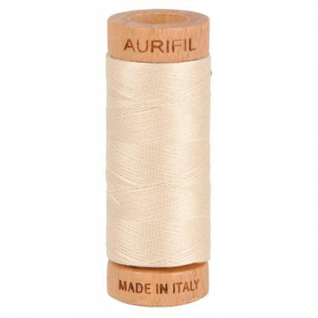 Aurifil cotton thread 80wt. light beige