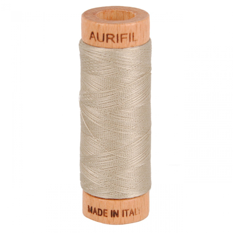 Aurifil cotton thread 80wt. Rope Beige