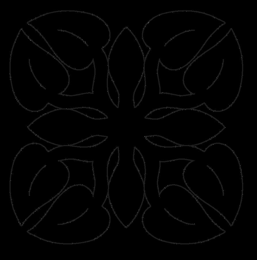 16in. Anthurium Fusible Applique