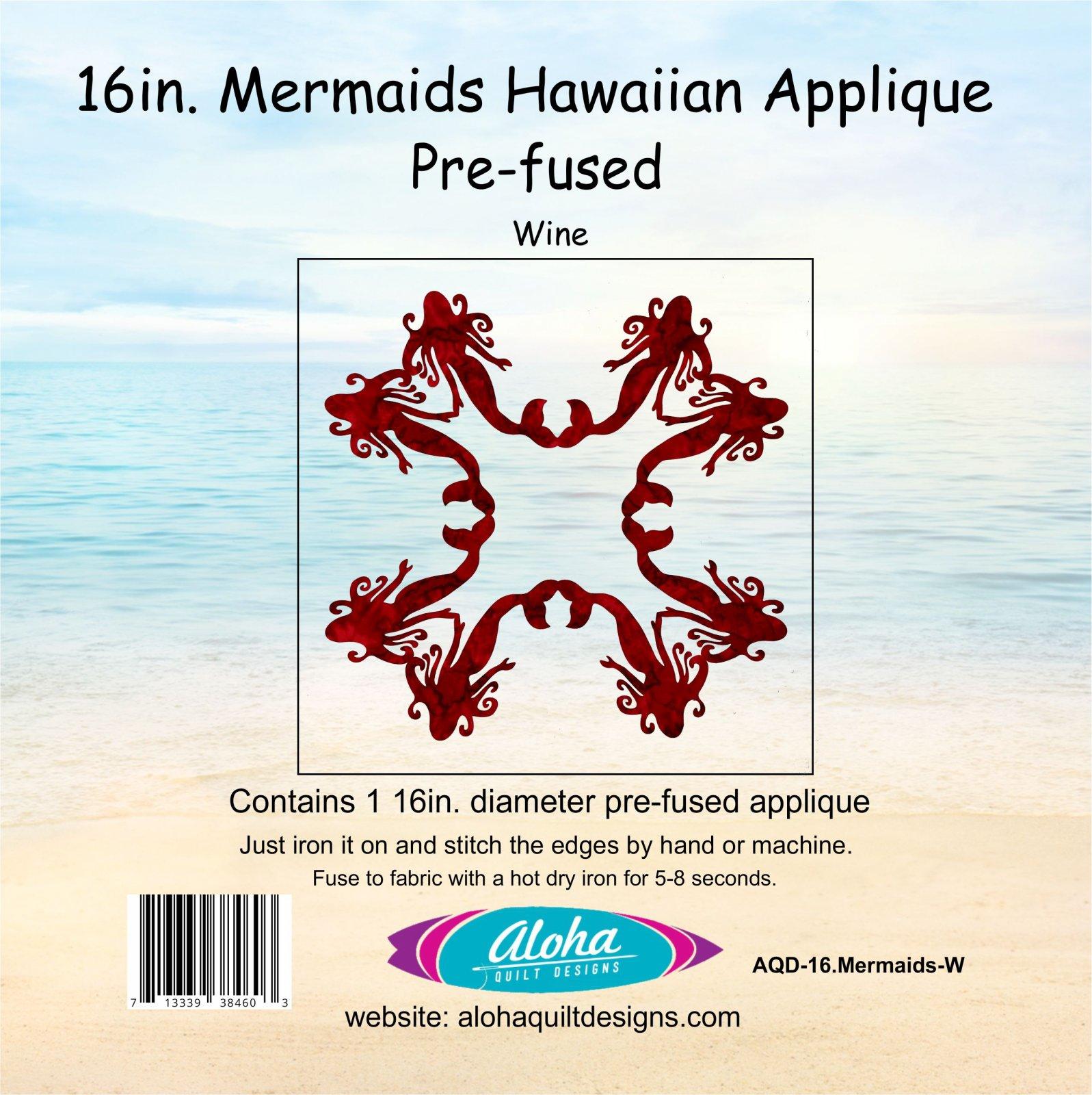 16in. Mermaids Fusible Applique