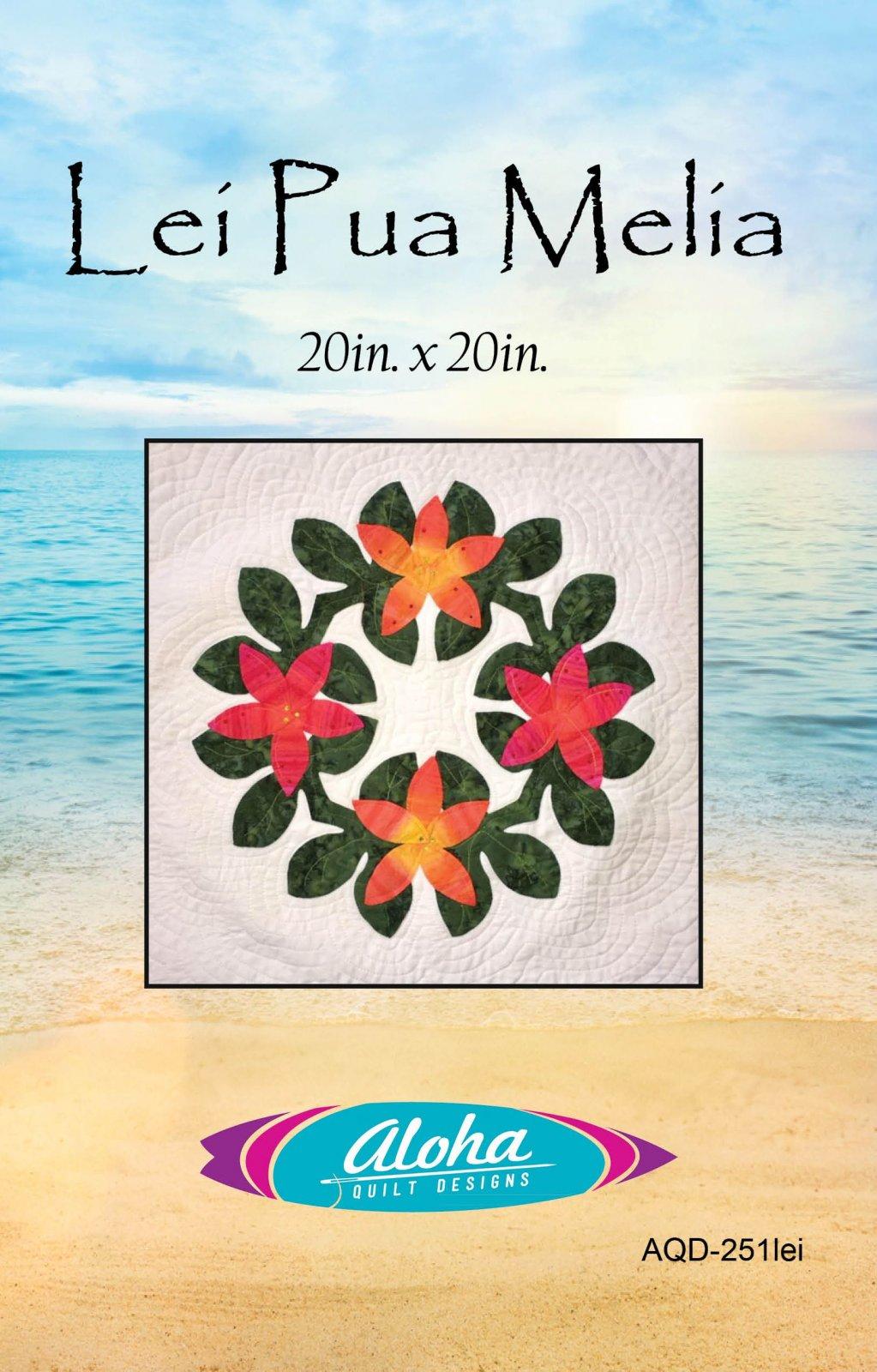 Lei Pua Melia Applique Pattern - Digital