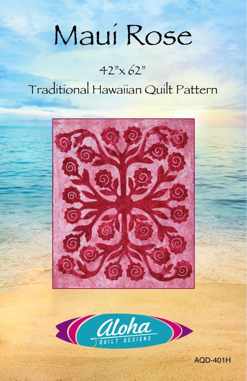 Maui Rose Hawaiian Applique Pattern